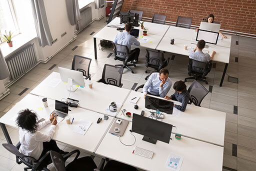 What are the advantages of open office space?
